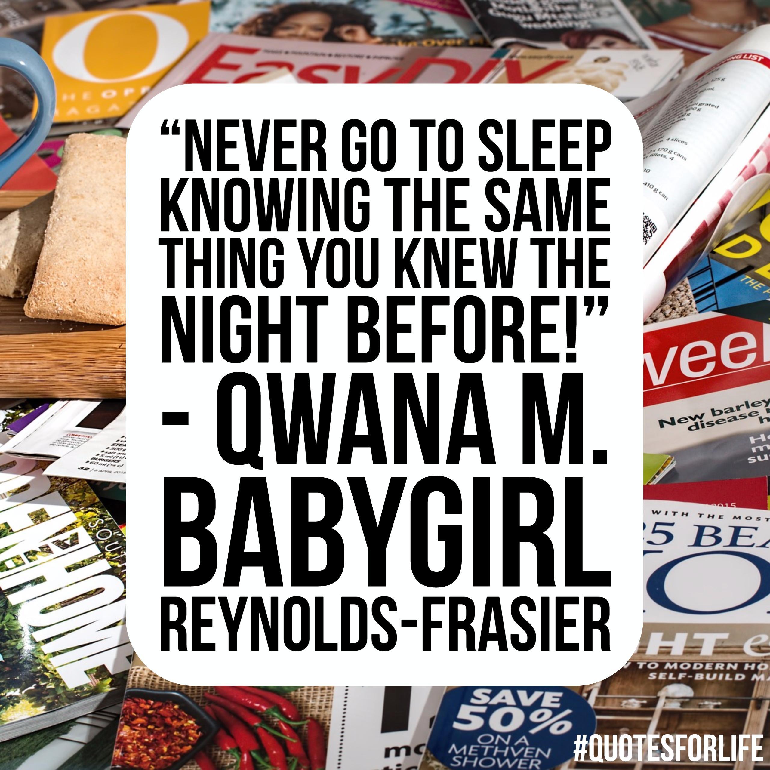 Qwana M. 'Babygirl' Reynolds-Frasier
