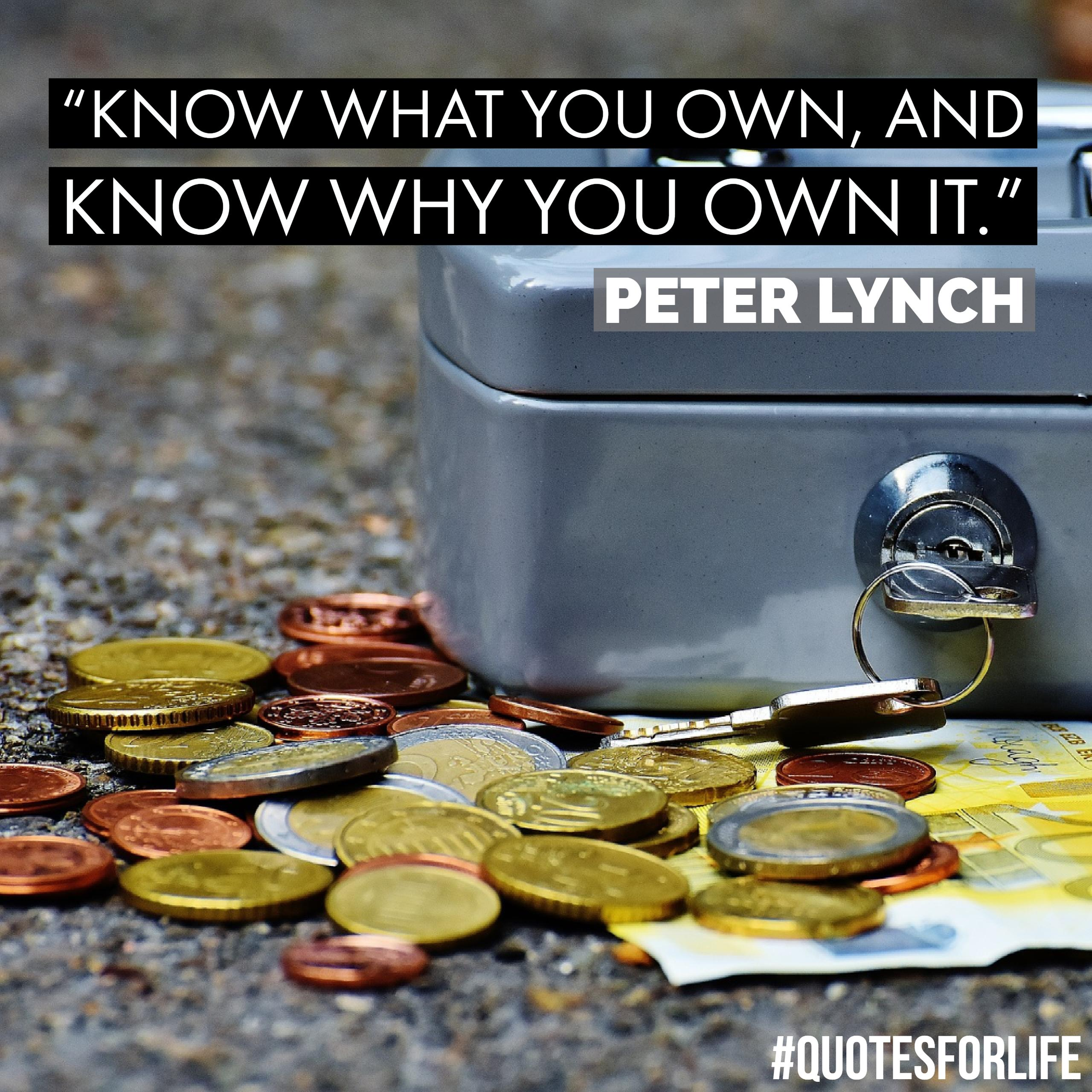 U201cKnow What You Own, And Know Why You Own It.u201d U2013 Peter Lynch
